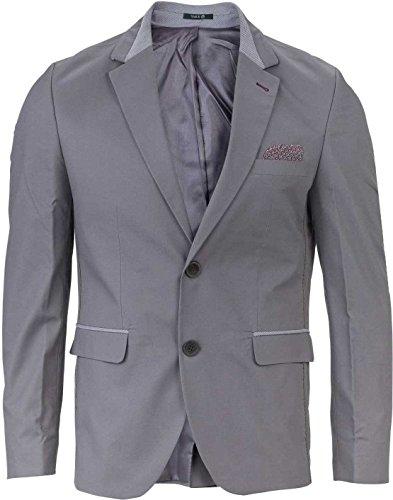 YAKE by S.O.H.O. NEW YORK Sakko Herren Slim Fit - Blazer Herren Sportlich Belfast, Farbe: Grau_008, Größe: 48 (Klappe Übergroße)