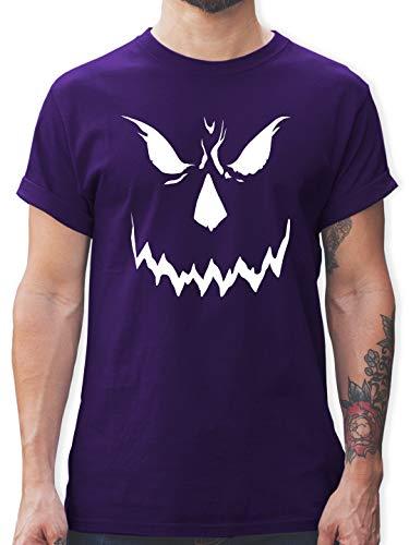 Halloween - Scary Smile Halloween Kostüm - M - Lila - L190 - Herren T-Shirt Rundhals
