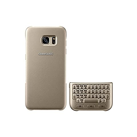 Samsung Original Keyboard Cover Hülle EJ-CG930 for Galaxy S7 - Gold