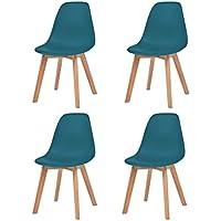 festnight 4x esszimmerstuhle kuchenstuhl stuhl set turkis