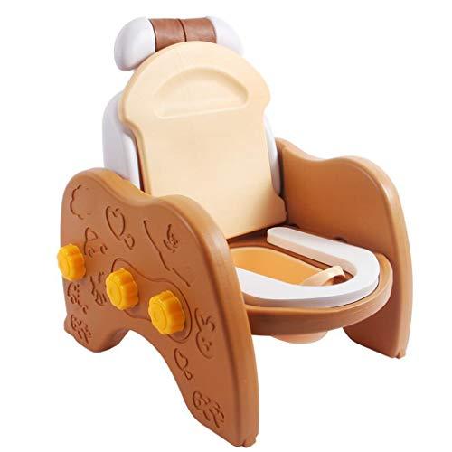 LLRDIAN Kinder-WC-Sitz, Männer und Frauen Baby-Toilette Urinal Hocker st Multifunktions-Kindershampoo-Stuhl XL (Farbe : Brown)