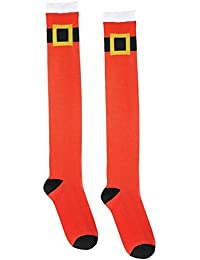 5d2ffda48 amscan 392474 Fun-Filled Christmas and Holiday Party Santa Belt Knee Socks