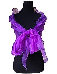 Hermosa Largos Perlas abrigo del mantón de la bufanda de la estola embellecido Bodas damas de honor de novia que igualan desgaste