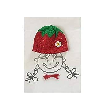 Babymütze, Kindermütze, Strickmütze, gestrickte Mütze, Erdbeermütze, Erdbeere