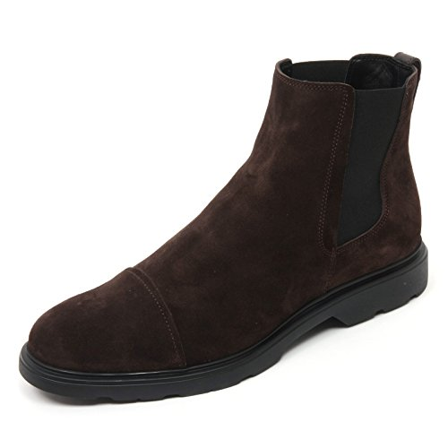 B9838 beatles uomo HOGAN NEW ROUTE CHELSEA scarpa marrone boot shoe man Marrone