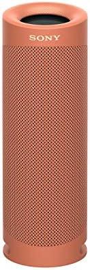مكبر صوت بلوتوث اكسترا باس محمول ومقاوم للماء من سوني - احمر موديل SRS-XB23