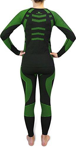 Damen Set Funktionsunterwäsche Polar Husky Thermoaktiv Atmungsaktiv Skiunterwäsche - Ski - Snowboard - Langlauf SAR / Grün