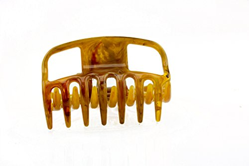 2Stk Haarkralle 6cm in horn - Made in Germany - WeLoveBeads