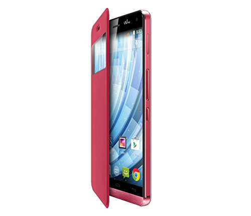 Price comparison product image Flip Case For Wiko 93541 Original Coral for Getaway Smartphone