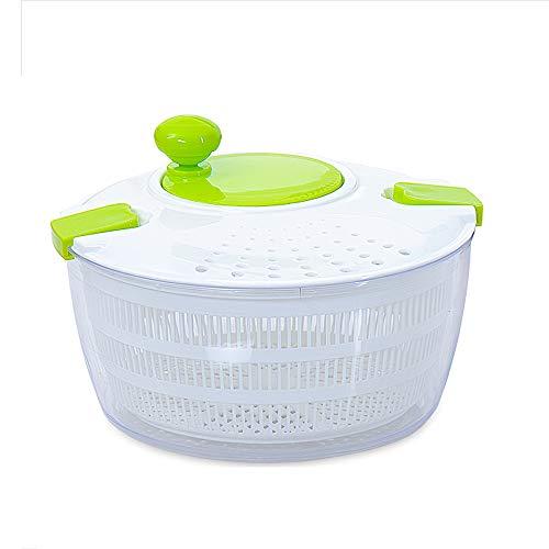 Roeam Salatschleuder, BPA frei Salad Drainer Manueller Salattrockner mit Kurbelgriff Verschlussdeckel und Ablauffilter, Obst und Gemüse Trockner schnell trockenes Design für Gemüse Obstsalat