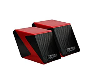 Zebronics Cubic 2.0 Channel Multimedia Speakers (Red)