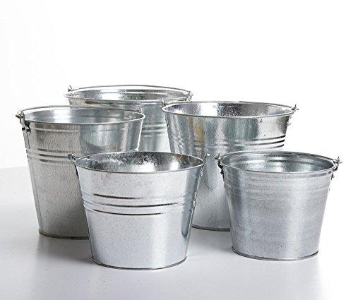Metalleimer Wassereimer Blecheimer Eimer verzinkt Dekoeimer 5-15 Liter (10 Liter)