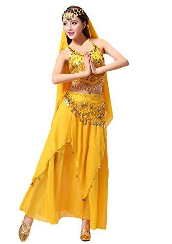 Damen Festliches Elegant Indisch Performance-Kleidung Bauchtanz Kostüm Geschenke -