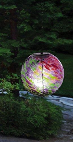 Gazing Ball (Evergreen Enterprises zum Aufhängen Solar Gazing Ball Outdoor Decor, pink/grün)