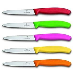 Victorinox 6.770X.5 Swissclassic Lot de 5 Couteaux à légumes Couleurs Assorties 10 cm