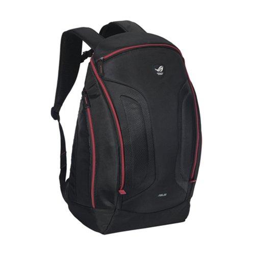 Asus Rog Shuttle Notebook-Rucksack (bis 43,2 cm (17 Zoll), Polyester, Handyfach, gepolstert, wasserfest) schwarz