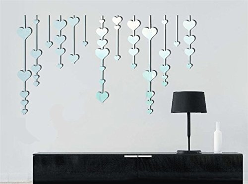 qwer Specchio da parete adesivo superficiale letto animazione per bambini sala tv camera da letto a parete divano specchi decorativi scacciapensieri P013, nero