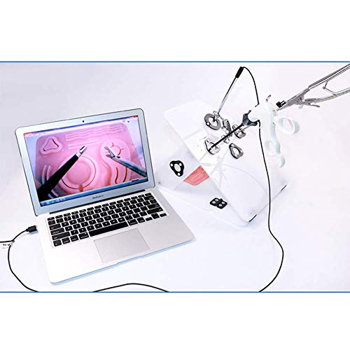 ZEUR Laparoskopische Trainer-Simulator-Box Trainings-Kit Mit 4 chirurgischen Instrumenten Und 5 Trainingsmodule 1080p hochauflösende Kamera