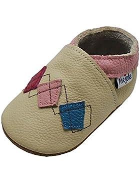 Mejale Beige Leder Babyschuhe Lauflernschuhe Krabbelschuhe Kleinkind Kinderschuhe Hausschuhe