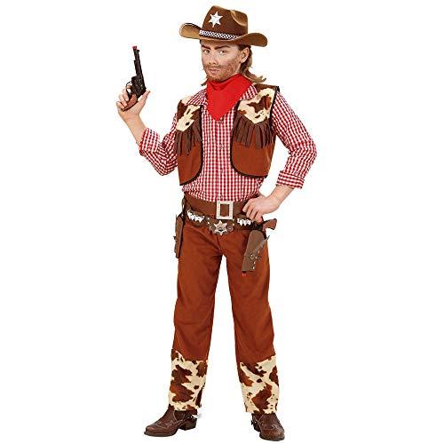 Themen Wild West Kostüm - Widmann 58808 Kinderkostüm Cowboy, Jungen, Rot/Braun, Large