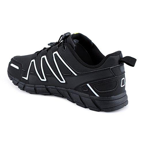 FiveSix Herren Damen Sneaker Sportschuhe Lauf Freizeit Mehrfarbig Runners Fitness Low Unisex Schuhe Schwarz/Weiss-M