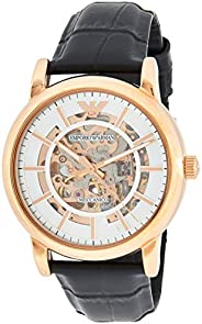 Emporio Armani Rose Gold Men's Silver Dial Leather Analog Watch - AR6