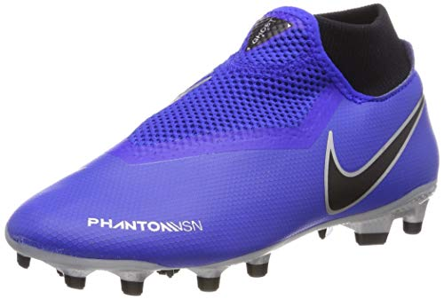 Nike Obra 3 Academy DF MG, Chaussures de Football Mixte Adulte, Bleu Racer Blue/Black Volt/MTLC Silver 400, 44 EU