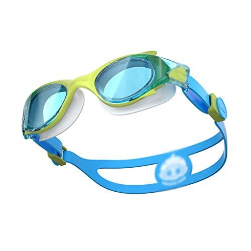 CUIS- wasserdichte und beschlagfreie HD Berufstauchgroße Kasten-Schwimmen-Schutzbrillen-Ausrüstung, widergespiegelte Schwimmen-Schutzbrillen UVschutz-Triathlon-Schwimmen-Schutzbrillen für Kind 2-8