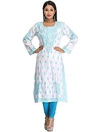 ADA Handmade Lucknow Chikankari Womens Ethnic Wear Cotton Kurta Kurti A116402