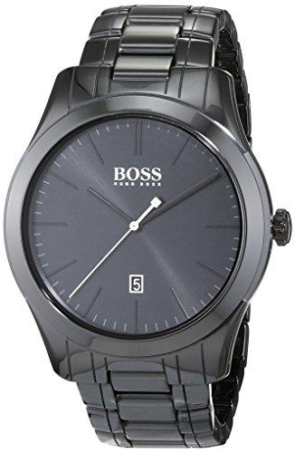 Reloj analógico con mecanismo de cuarzo para hombre Hugo Boss 1513223, diseño clásico y correa cerámica.