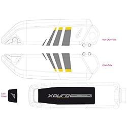 Dekor E-Bike Xduro f.Batteriegehäuse GEN2 2014,grau+gelb (1 Stück)