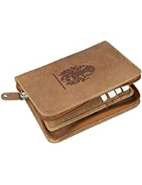 Style98 Tan Pure Leather Men's Travel Wallet|| Zipper Passport Pouch||Passport Wallet||Passport Holder||Travel...