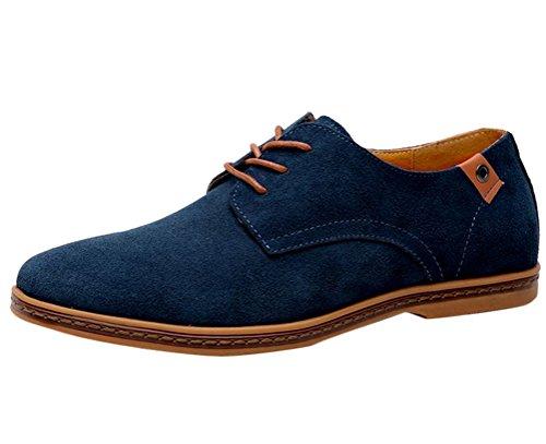 Brinny Mode Classique Bottes Chaussures de Ville Homme Cuir Suede Oxfords Confortable Décontracté Plate Shoes Sneakers Chaussures 11 Taille: 38-48