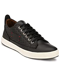 Real Blue Men Leather Sneaker , High Ankle Shoe for men, men Trendy shoe, canvas shoe, shoe for men , men black sneaker, footwear for men , men footwear