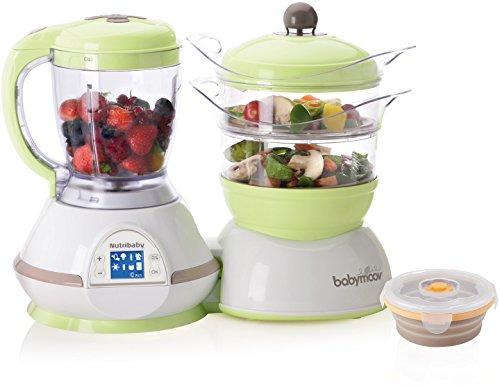Babymoov A108435 Nutribaby Zen Küchenmaschine (inkl. einem Silikonbehälter, 240 ml) grün