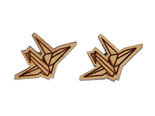 papier-cygne-doreille-miniblings-boucles-doreilles-origami-oiseaux-animaux-aquatiques-laser-cut