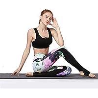 Pantalones de yoga de bolsillo de cintura alta. Ej Pantalones de yoga de secado rápido Deportes Impresión digital Pantalones de yoga Estampida Impresión femenina ( Color : Flower peony , tamaño : L )