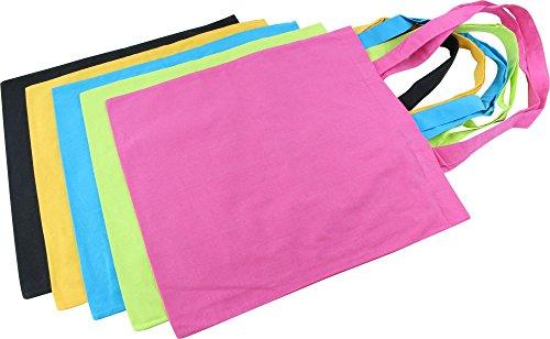 Sacchetto di stoffa Borsa della spesa Borsa in 100% cotone in vari colori multicolore
