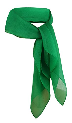 TigerTie Damen Chiffon Nickituch grün leuchtgrün uni - Gr. 50 x 50 cm - Halstuch (Damen Halstuch)
