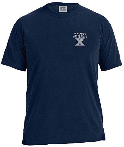 Image One NCAA Xavier Musketeers T-Shirt, kurzärmelig, bequem, Farbe: True Navy, XX-Large Xavier University Basketball