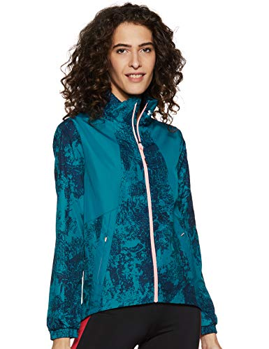promo code 5c2bd 459f4 Under Armour Intl Printed Run Chaqueta, Mujer, Azul, XL