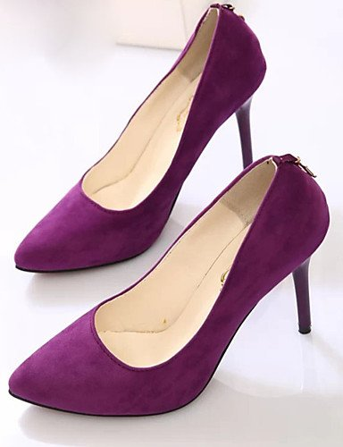 GS~LY Da donna-Tacchi-Casual-Tacchi-A stiletto-Felpato-Nero / Blu / Viola / Borgogna purple-us6 / eu36 / uk4 / cn36