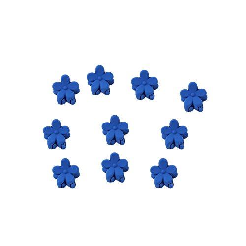 10pcs Baby Girl cheveux Bangs Cheveux Mini Claw Clips Hair Pin Fleur Bleu