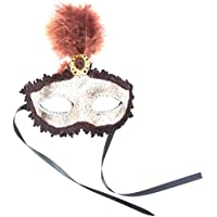 Sharon Sloane Gold Mask with Feather Brown – TU