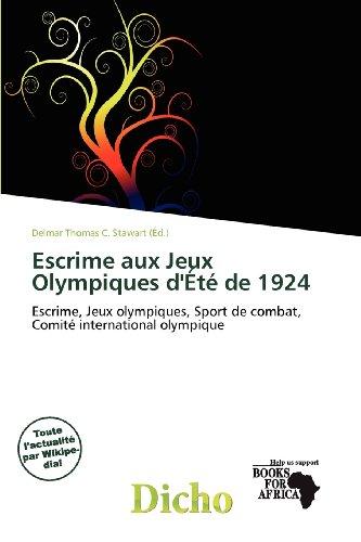 Escrime Aux Jeux Olympiques D' T de 1924