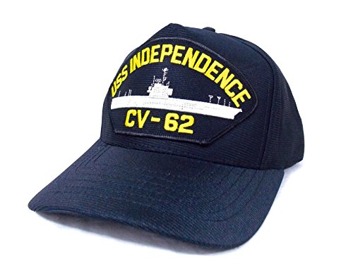 5f59535765fec EagleC USS Independence CV-62 Casquette Marine Militaire Navy Americaine  Porte Avion - Made in