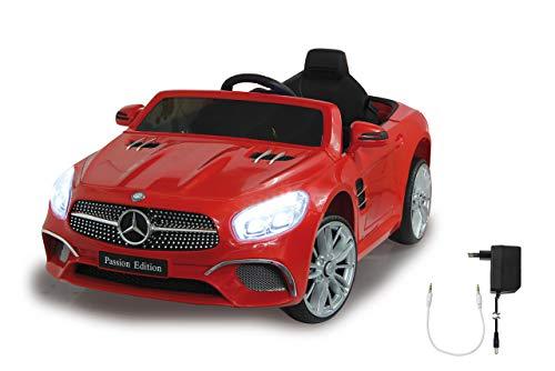 Jamara 460437 Ride-on Mercedes-Benz SL 400 12V-2 Leistungsstarke Antriebsmotoren und Akku für Lange Fahrzeit, Micro-SD-Slot, AUX-/USB-Anschluss, LED-Scheinwerfer, Ultra-Grip Gummiring, rot
