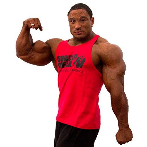 Gorilla Wear Classic Stringer Tank Top Fitness Gym Bodybuilding - Verschiedene Farben und Größen Rot