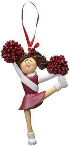 Ornament Central OC-006-R-BR Red Uniform Cheerleader Figurine by Ornament Central