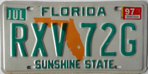 USA Nummernschild FLORIDA ### US Kennzeichen License Plate ### Blechschild Autoschild